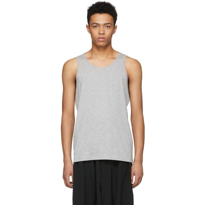 Photo: Comme des Garçons Shirt Grey Basic Tank Top