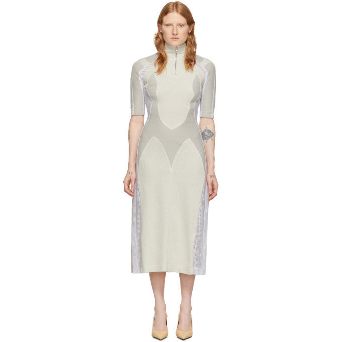 GmbH Off-White Wool Awra Three-Tone Dress