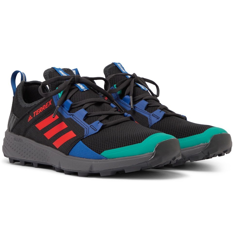Photo: adidas Consortium - White Mountaineering Terrex Agravic Speed Ripstop and Mesh Sneakers - Black