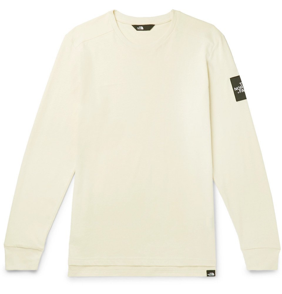 Photo: The North Face - Logo-Appliquéd Fleece-Back Cotton-Jersey Sweatshirt - Off-white