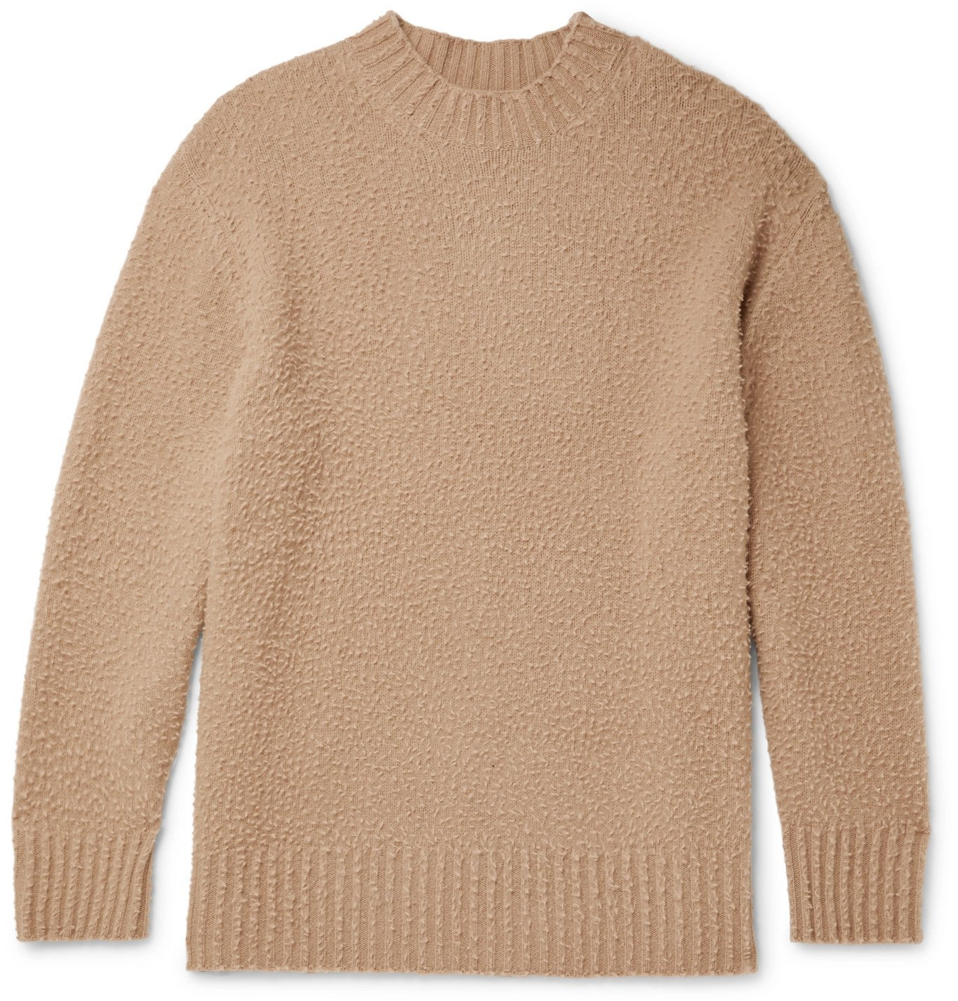 Photo: Maison Margiela - Oversized Textured-Knit Wool Sweater - Brown
