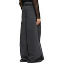 Raf Simons Black Oversized Wide Jeans