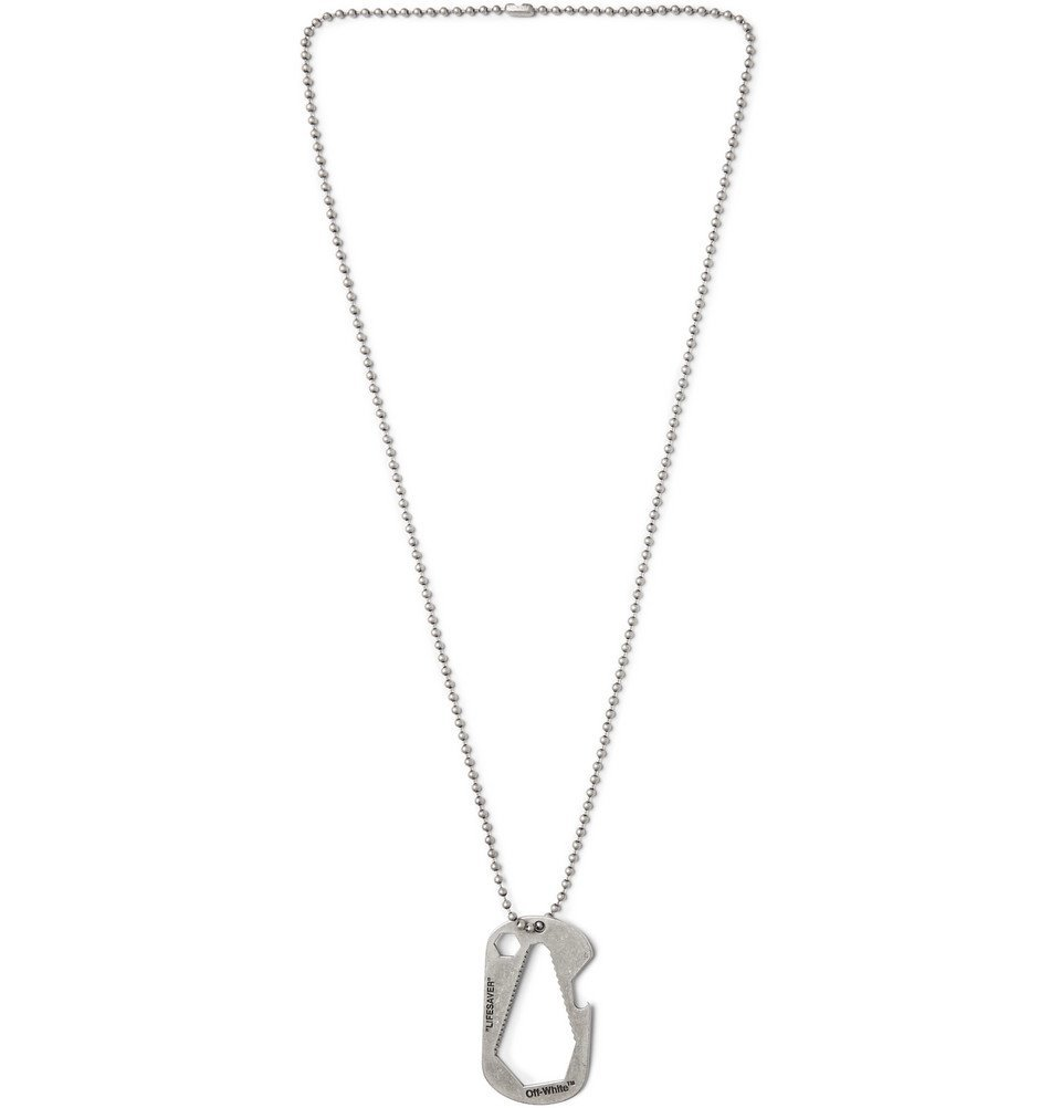 Photo: Off-White - Bottle Opener Stainless Steel Necklace - Silver