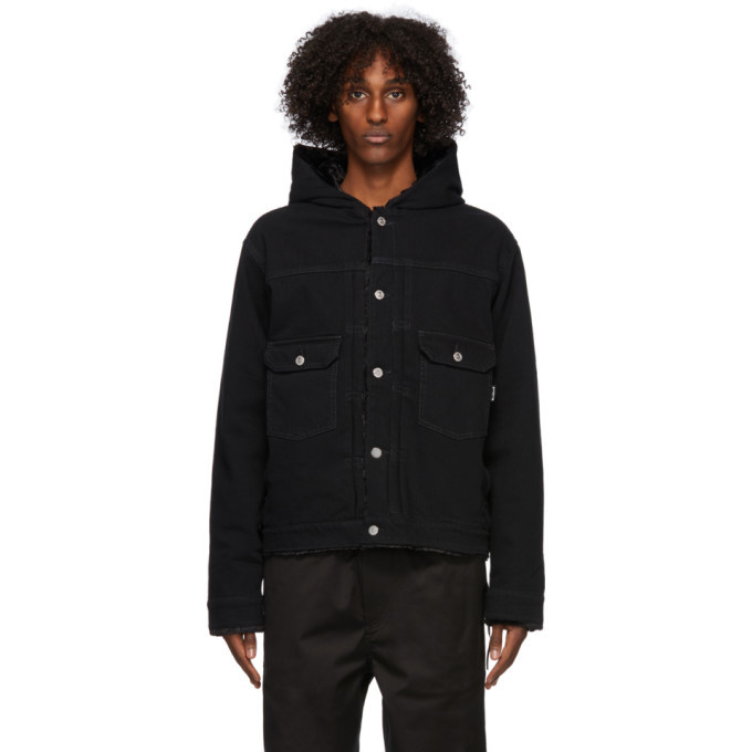 Photo: mastermind WORLD Black Denim Hooded Jacket