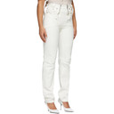 GmbH White Harness Straight-Leg Jeans