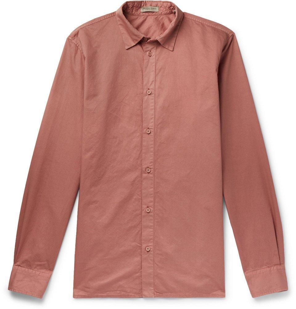 Bottega Veneta - Slim-Fit Garment-Dyed Cotton Shirt - Men - Pink