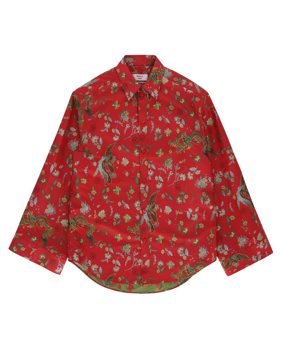 Martine Rose Lanterne Sleeve Classic Shirt Red Bird