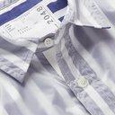 Sacai - Layered Nylon and Striped Cotton-Poplin Shirt - Blue