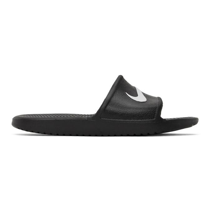 Photo: Nike Black Kawa Slides