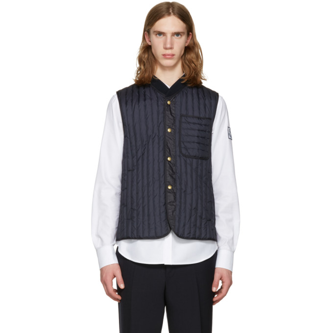 Photo: Moncler Gamme Bleu Navy Quilted Down Vest