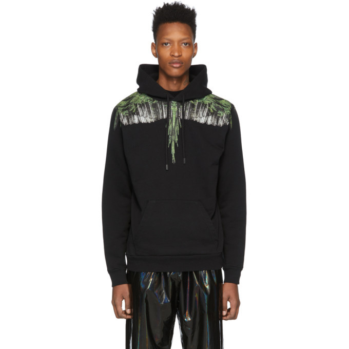 Photo: Marcelo Burlon County of Milan Black and Green Wings Hoodie
