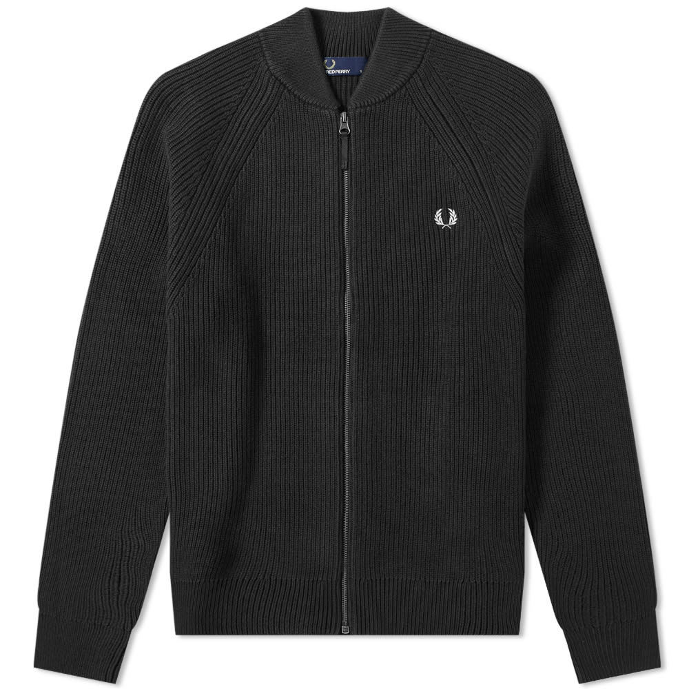 Photo: Fred Perry Bomber Neck Zip Cardigan