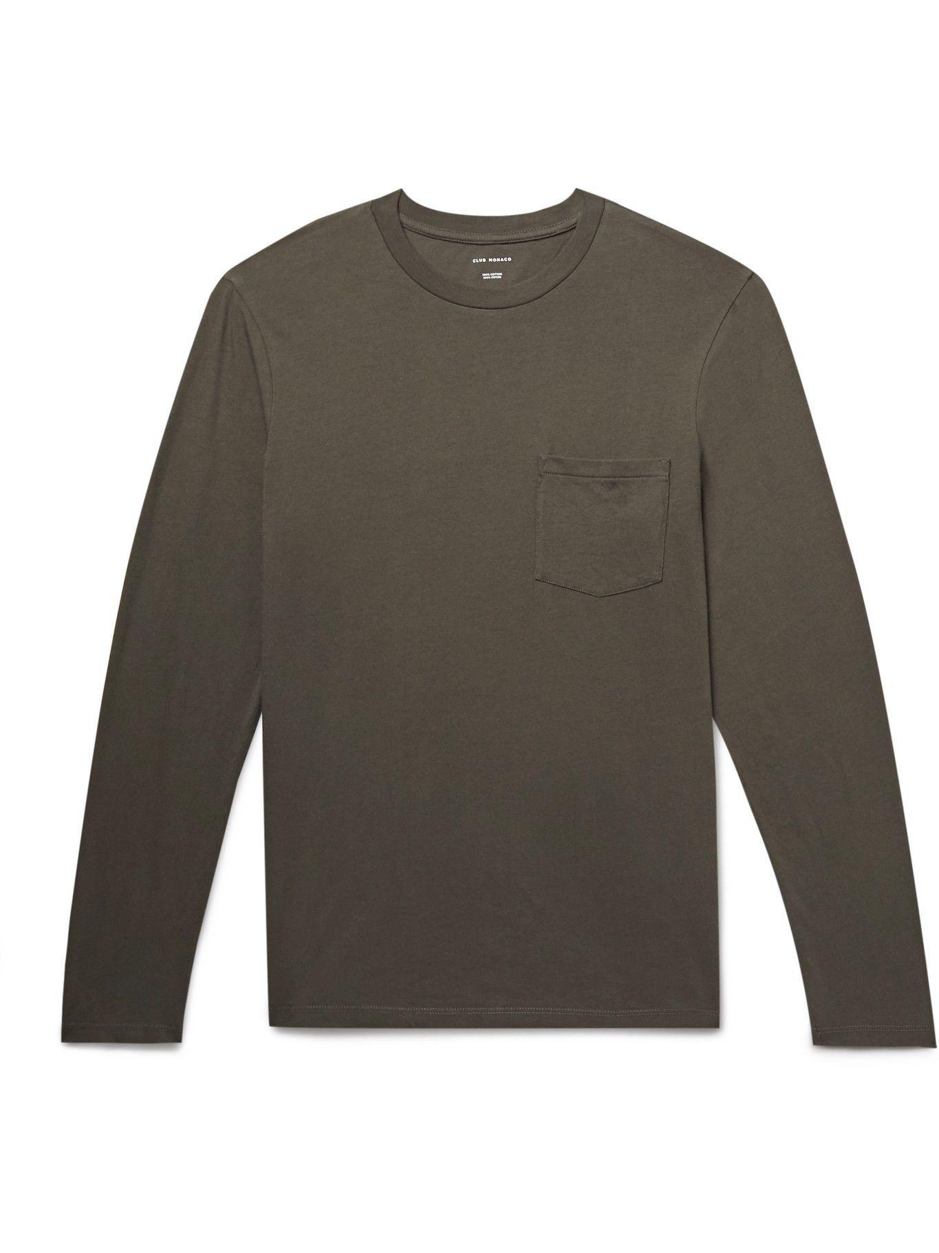 Photo: Club Monaco - Williams Cotton-Jersey T-Shirt - Green