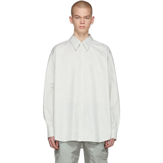 Photo: Raf Simons White and Green Check Plastic Pocket Shirt