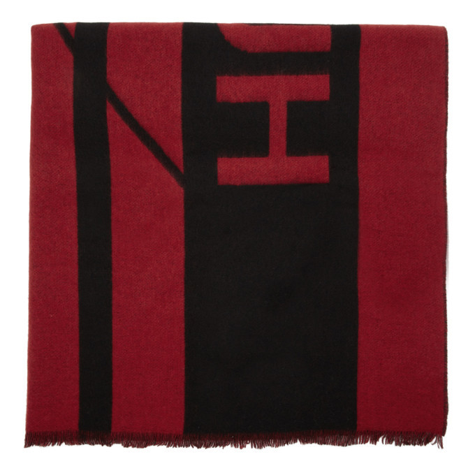 Photo: Hugo Red and Black Unisex-Z Scarf