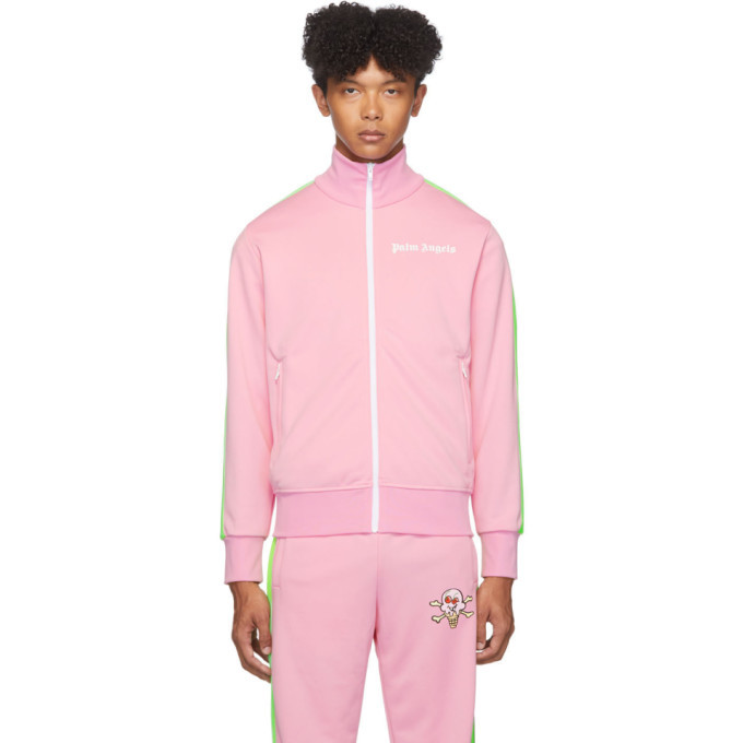 Photo: Palm Angels Pink Ice Cream Skull Track Jacket