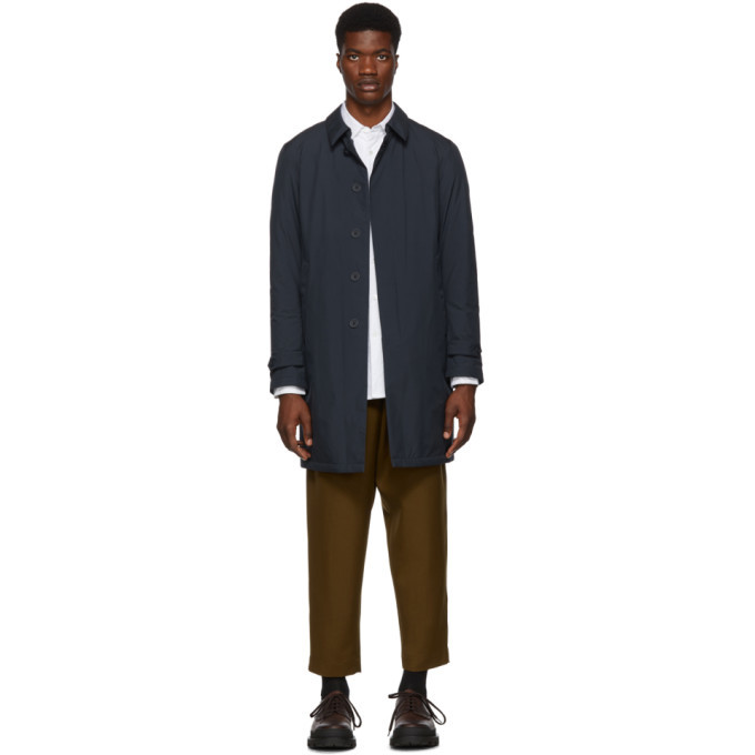 Photo: Herno Navy Down Laminar Tech Car Coat