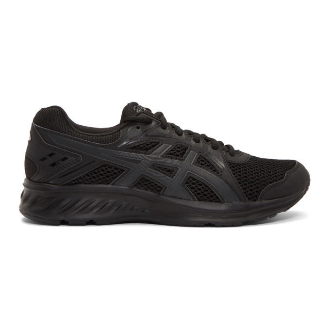 Photo: Asics Black and Grey Jolt 2 Sneakers