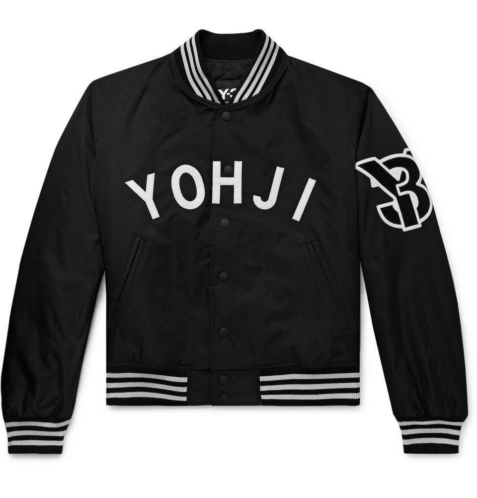 Photo: Y-3 - Logo-Appliquéd Shell Bomber Jacket - Black