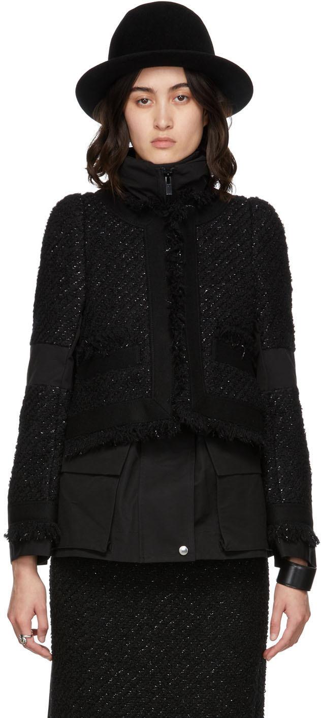 Photo: Sacai Black Tweed Jacket