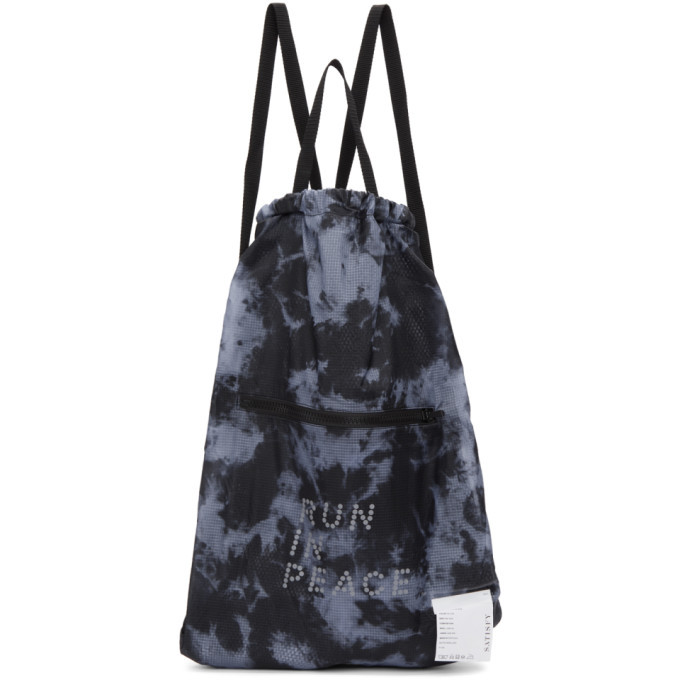 Photo: Satisfy Blue and Black Tie-Dye The Gym Bag Backpack