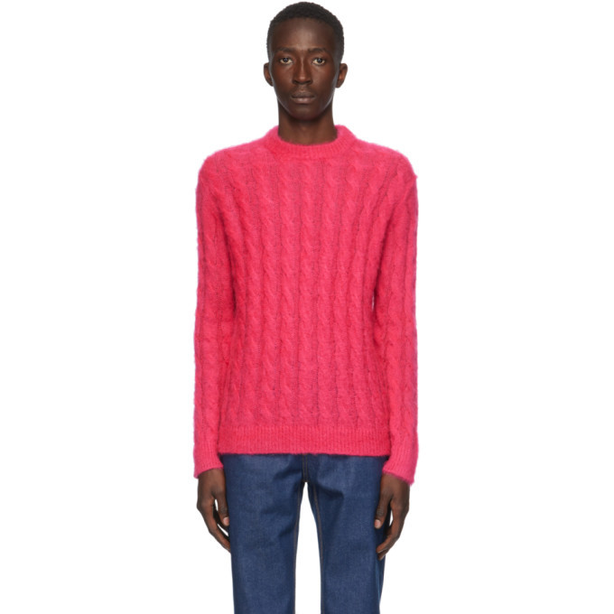 Photo: MSGM Pink Mohair Crewneck Sweater