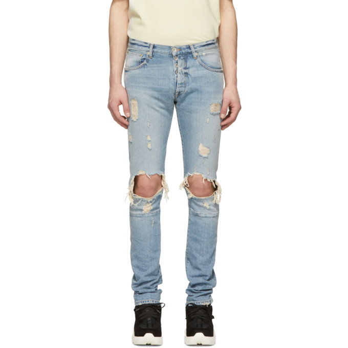 Photo: Unravel Blue Dirty Distressed Skinny Jeans