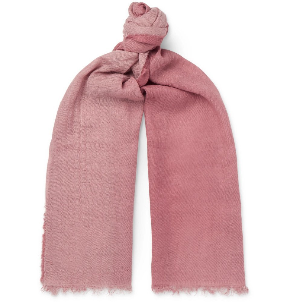 Photo: Oliver Spencer - Longhi Fringed Dégradé Woven Scarf - Pink