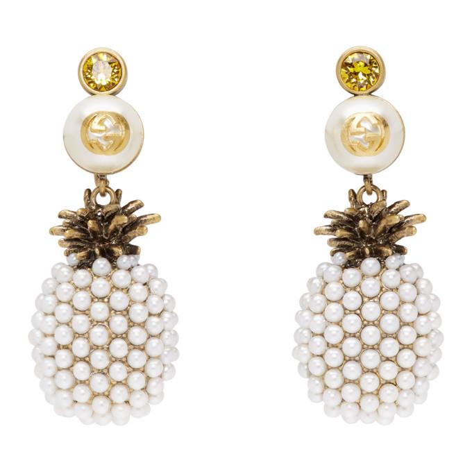 Gucci Gold Pineapple Drop Earrings