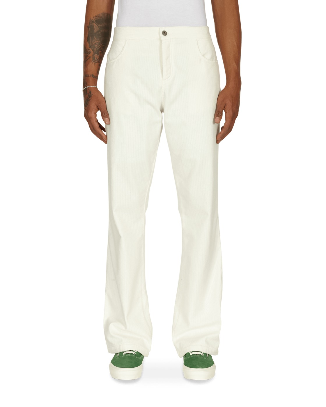 Photo: Erl Inside Out Corduroy Pants White