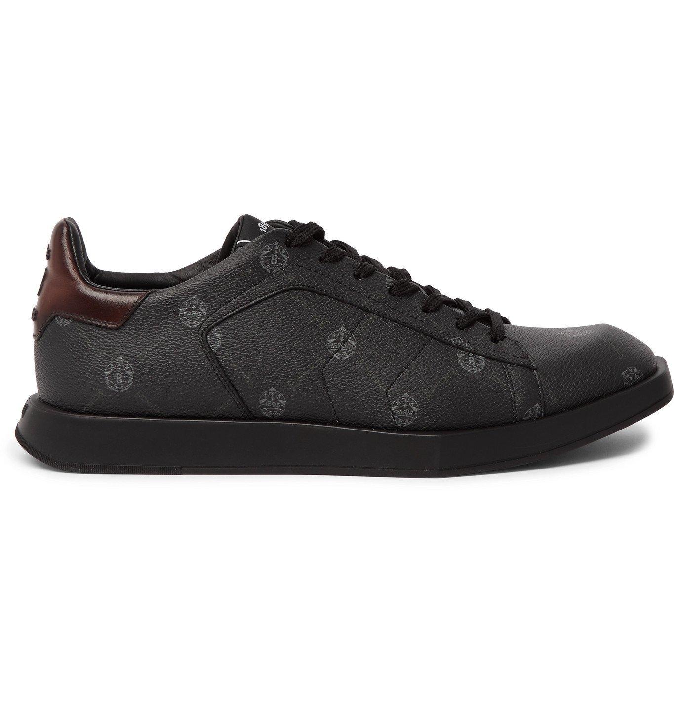 Berluti - Stellar Logo-Print Full-Grain Leather Sneakers - Black