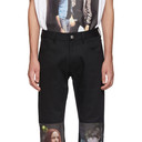 Raf Simons Black Christiane F. Detlef Patch Regular Jeans