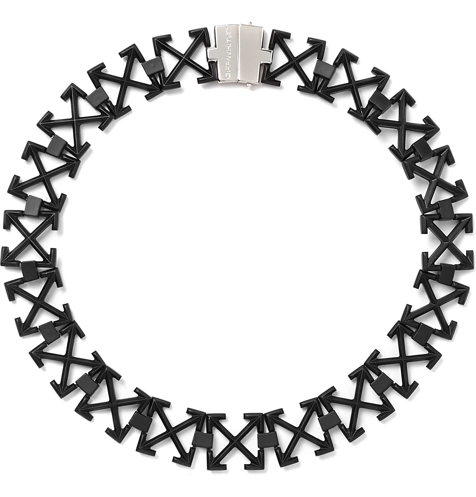 Photo: Off-White - Arrows Blackened Necklace - Black