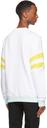 Balmain White Embroidered Tennis Logo Sweatshirt