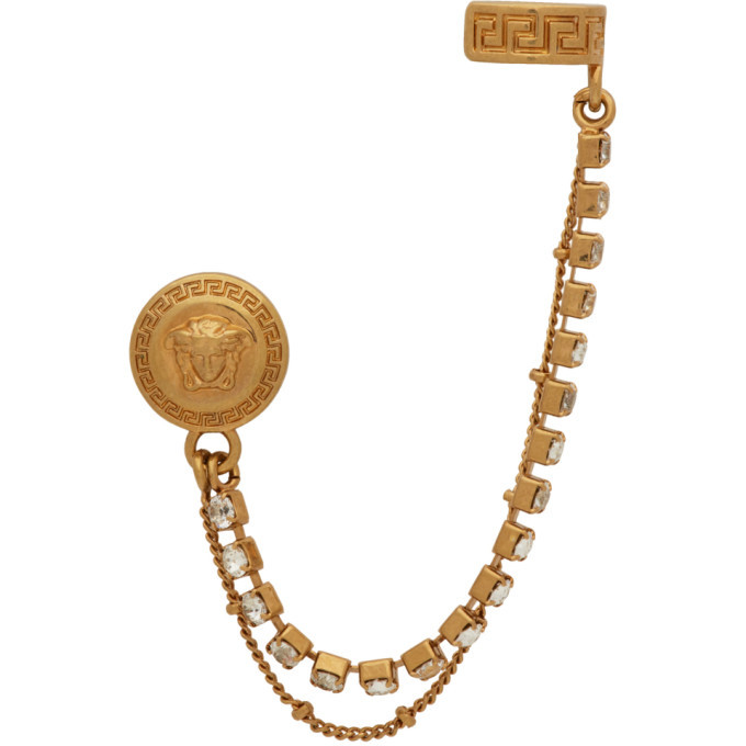 Photo: Versace SSENSE Exclusive Gold Cuff Earring