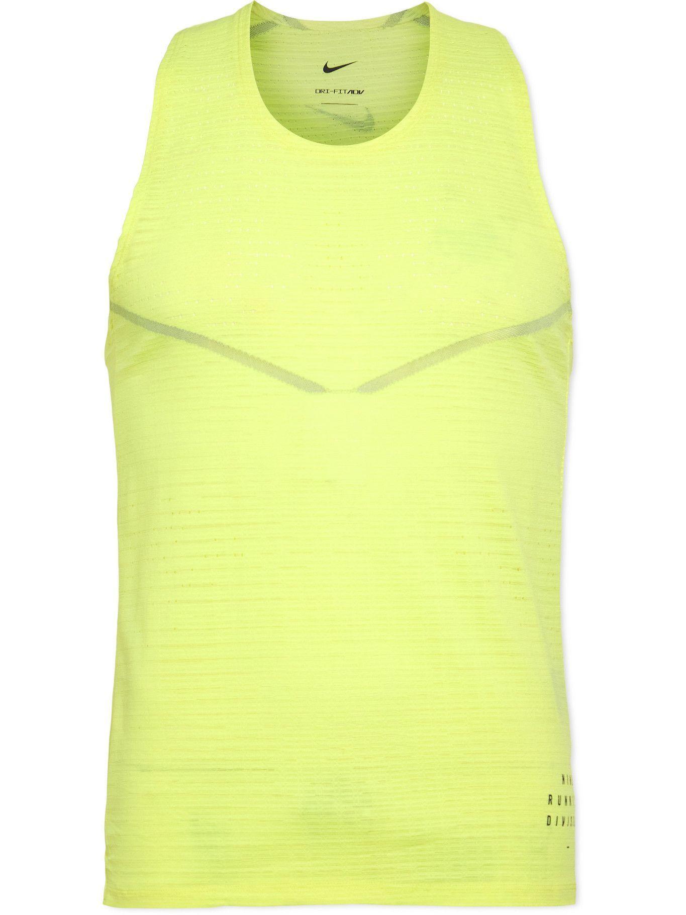 Photo: Nike Running - ADV Run Division Dri-FIT Tank Top - Yellow