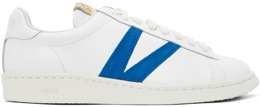 Photo: Visvim White & Blue Leather Corda-Folk Sneakers