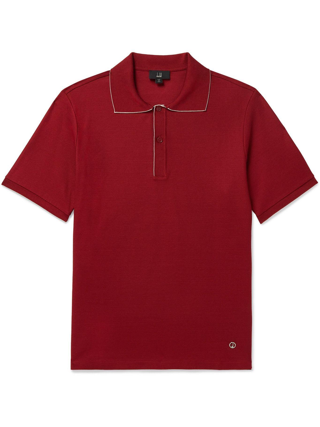 DUNHILL - Cotton-Piqué Polo Shirt - Red