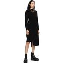 Sacai Black Wool Suiting Combo Sweater Dress