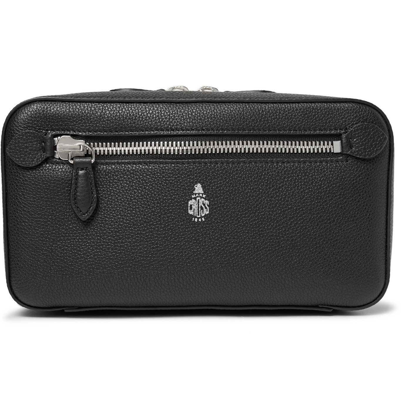 Photo: Mark Cross - Full-Grain Leather Wash Bag - Black