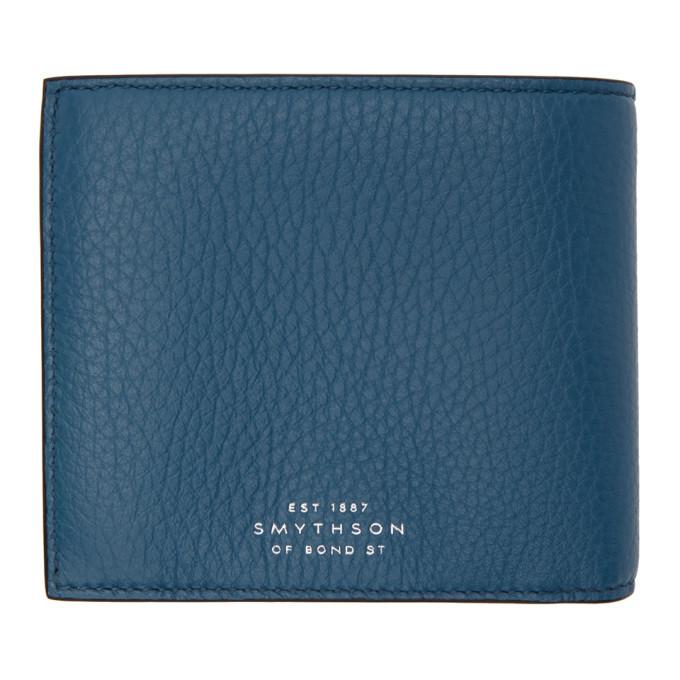 Smythson Blue Burlington 4CC Wallet