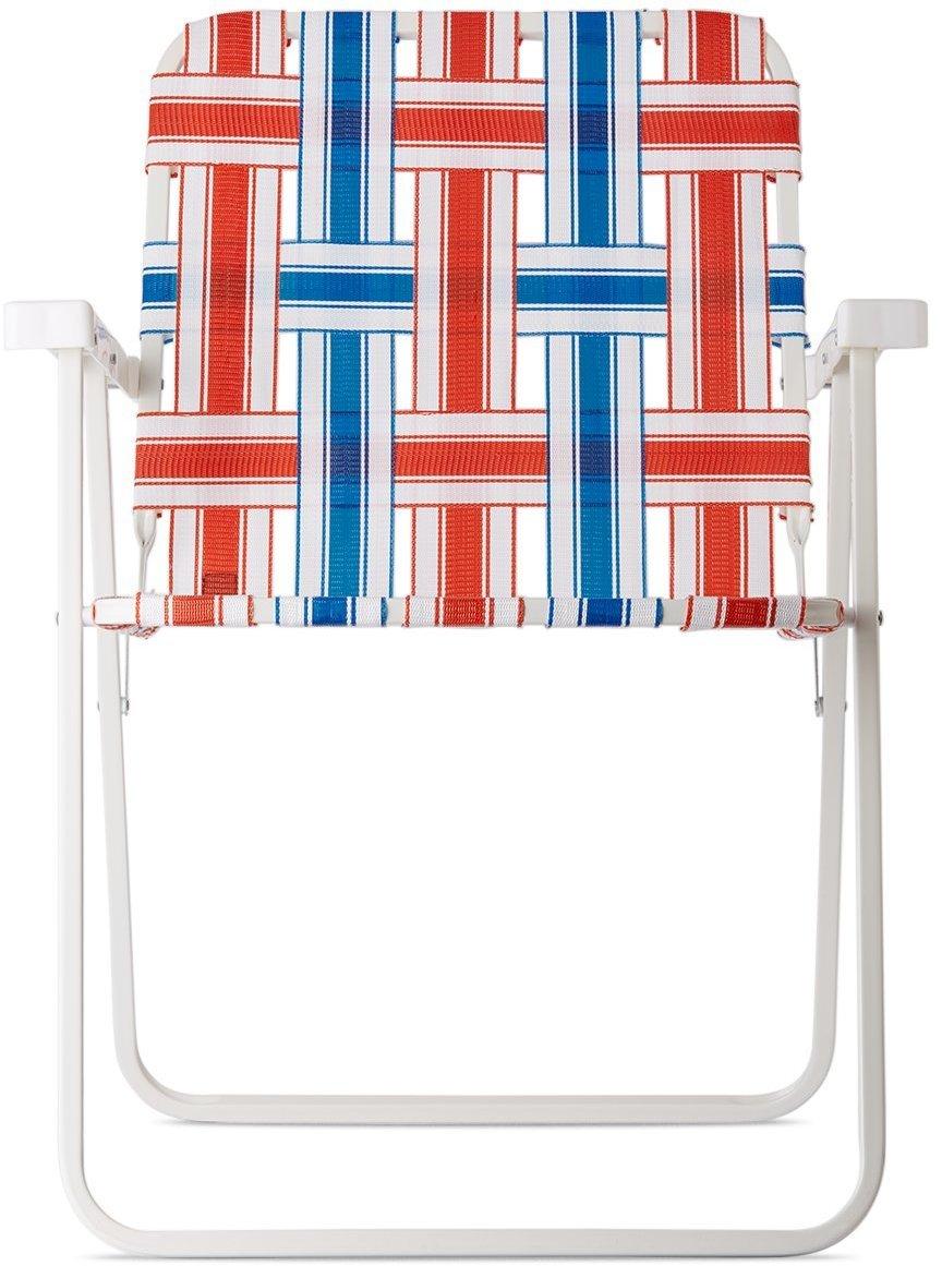 Photo: Clot Multicolor Stripe Blocking Beach Chair