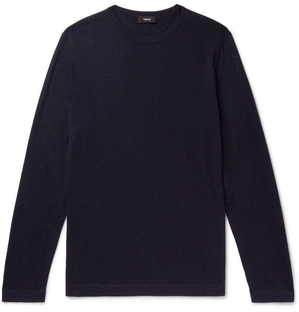 Photo: Theory - Lievos Slim-Fit Cashmere Sweater - Navy