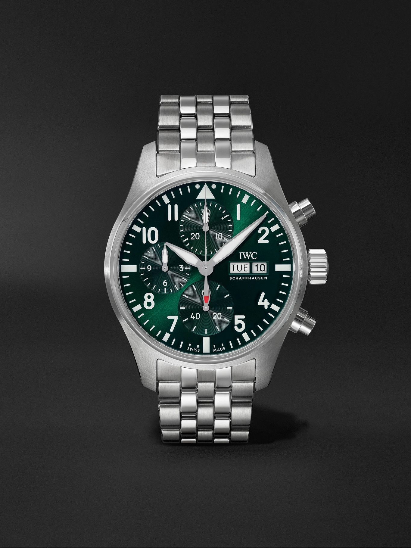 Photo: IWC Schaffhausen - Pilot's Automatic Chronograph 41mm Stainless Steel Watch, Ref. No. IW388104