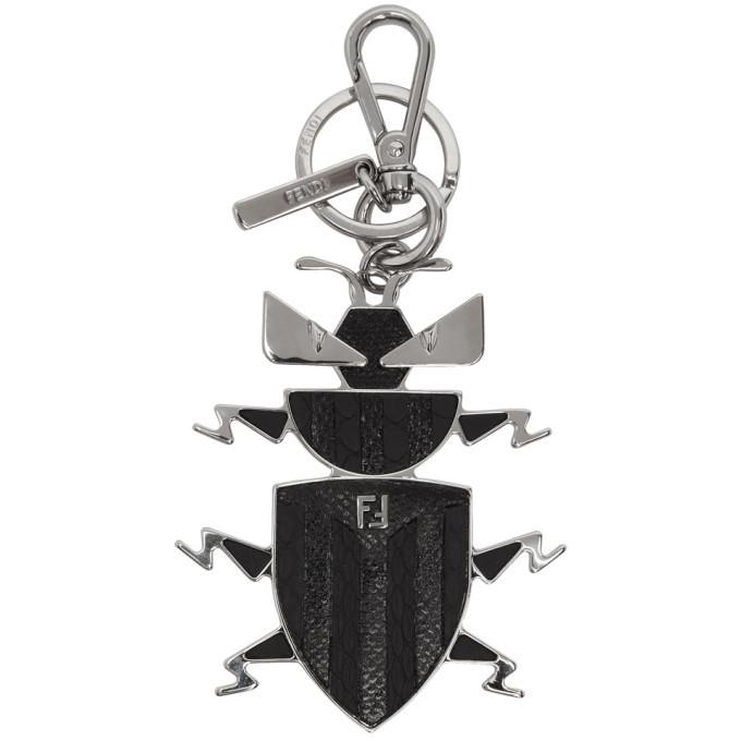 Photo: Fendi Black Super Bugs Charm Keychain
