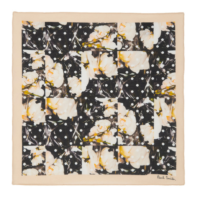 Photo: Paul Smith Multicolor Polka Dot and Orchid Pocket Square