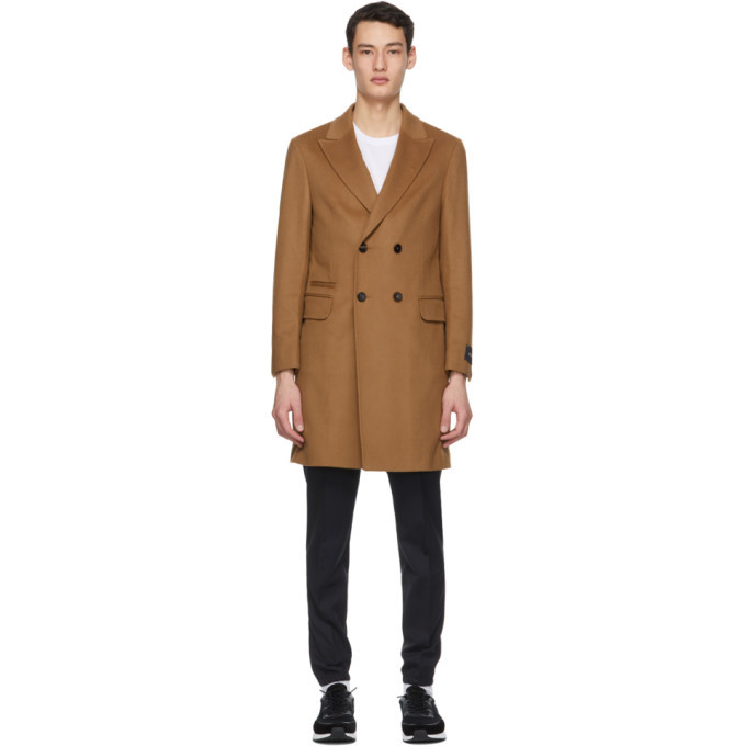 Photo: Z Zegna Tan Wool and Cashmere Coat