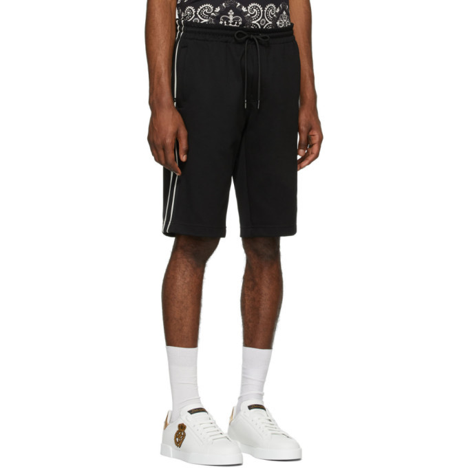 Dolce and Gabbana Black Cavallerry Bermuda Shorts