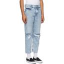 Ksubi Blue Bullet Crop Overkast Sliced Jeans