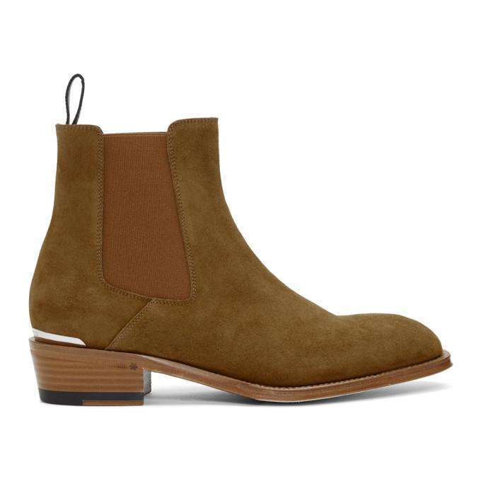 Photo: Alexander McQueen Tan Suede Chelsea Boots